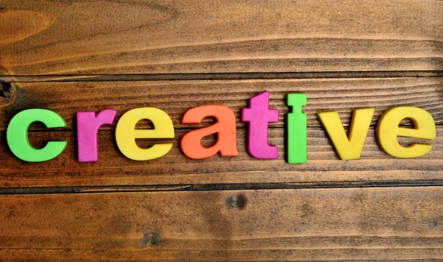 Colorful creative word