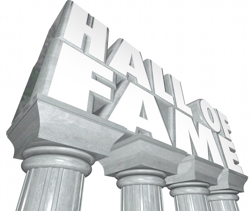 Hall of Fame Words Marble Columns Famous Celebrity Legendary Ind