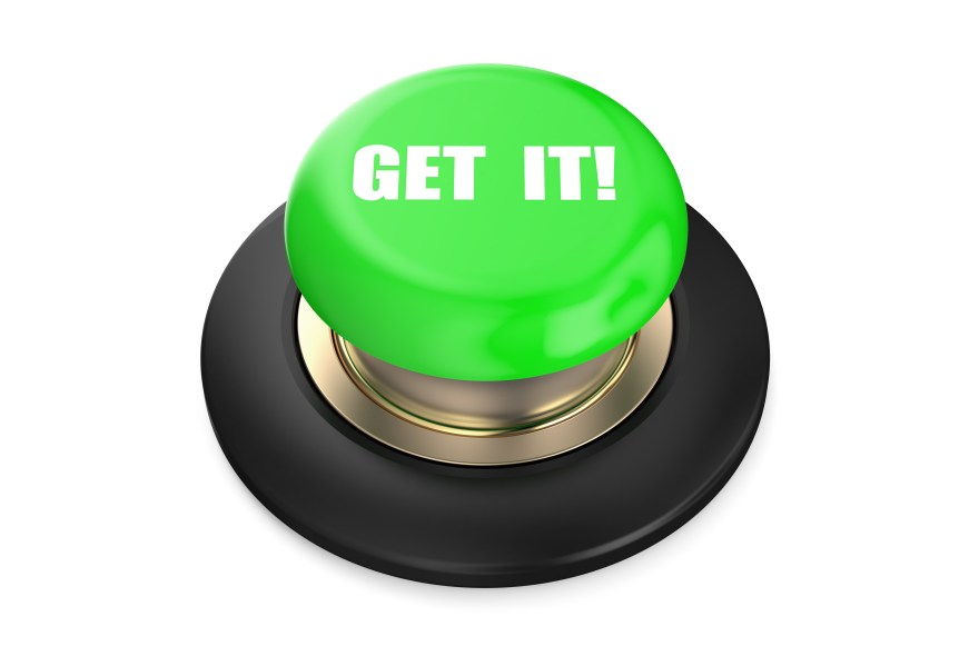 Get It green push button