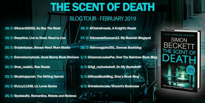 Scent of Death blog tour banner