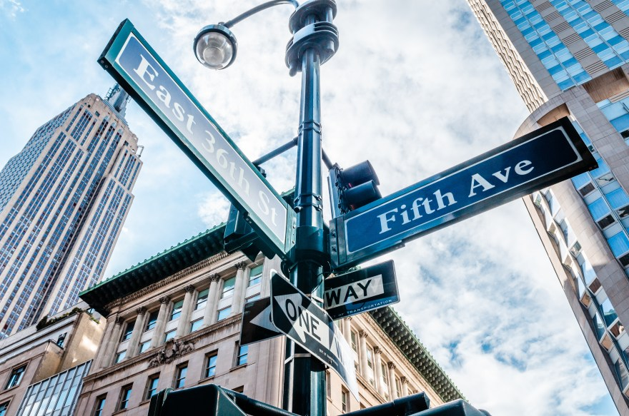 5th Avenue (Ave) Sign, New York NYC
