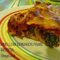 Cannelloni Epinards frais et Ricotta