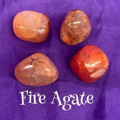 Fire Agate Tumbled