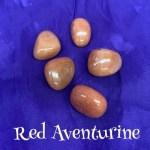 tumbled Red, Peach, Orange aventurine crystal