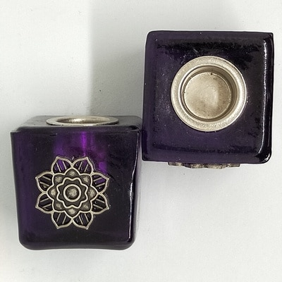 Flower Wish Candle Holder Purple