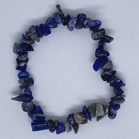 Crystal Chip Bracelet Lapis Lazuli