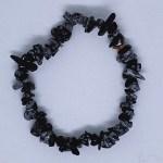 Crystal Chip Bracelet Snowflake Obsidian