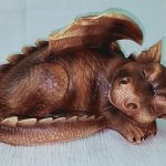 Sleeping Dragon Statue 29cm