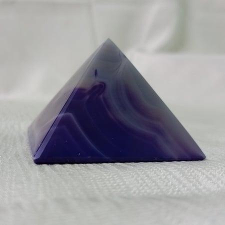 crystal Pyramid 60mm Agate