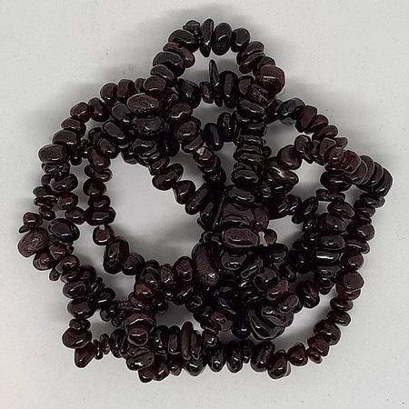crystal chip bracelets Garnet