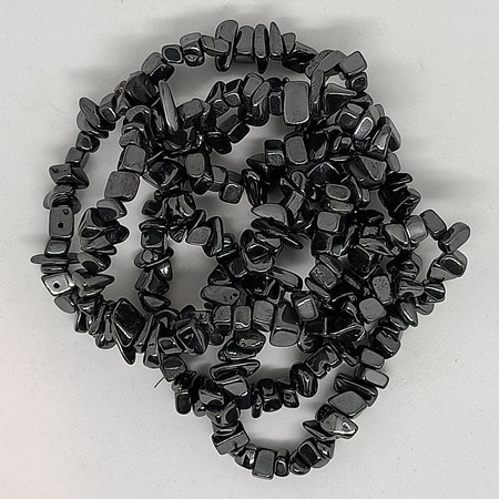 crystal chip bracelets Hematite
