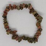 crystal chip bracelet Unakite