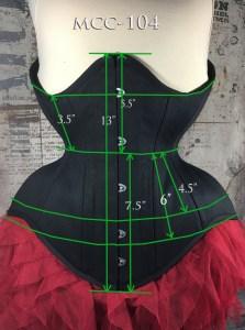 MCC-104 Black Cotton underbust corset-814