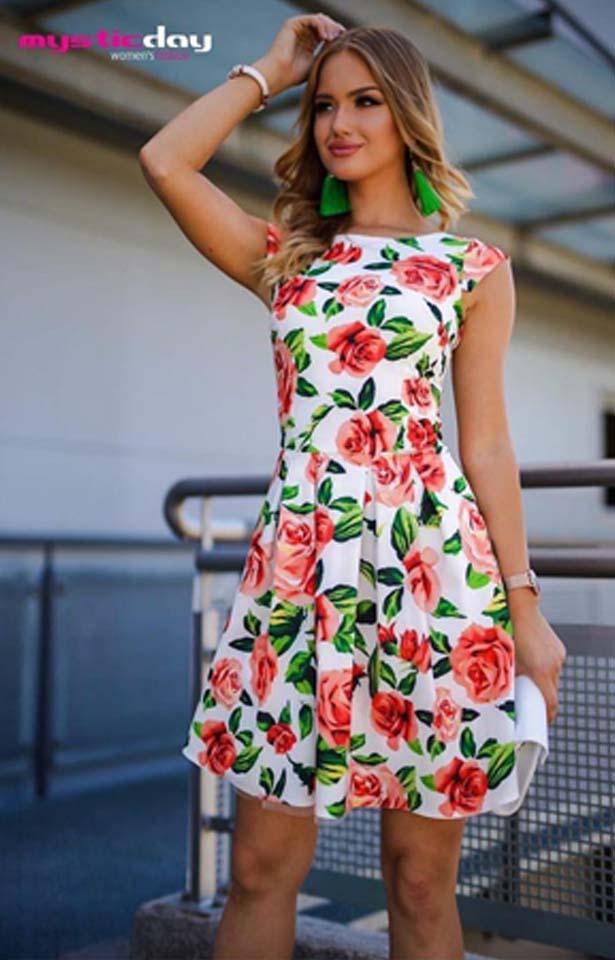 Narancs rózsás baba ruha