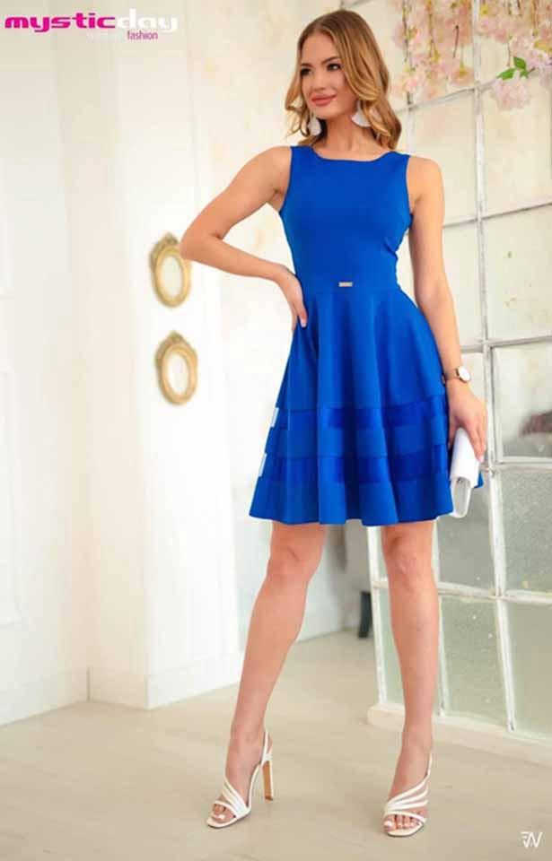 0323 Mystic Day Necces aljú kék baba ruha