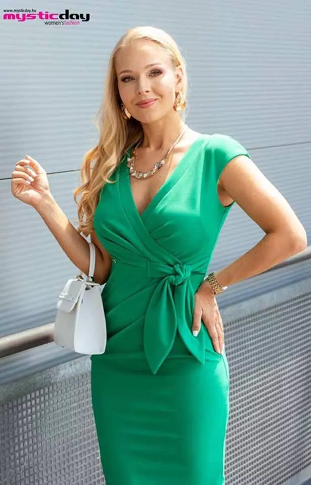 0365(2) Mystic Day Betty zöld ruha