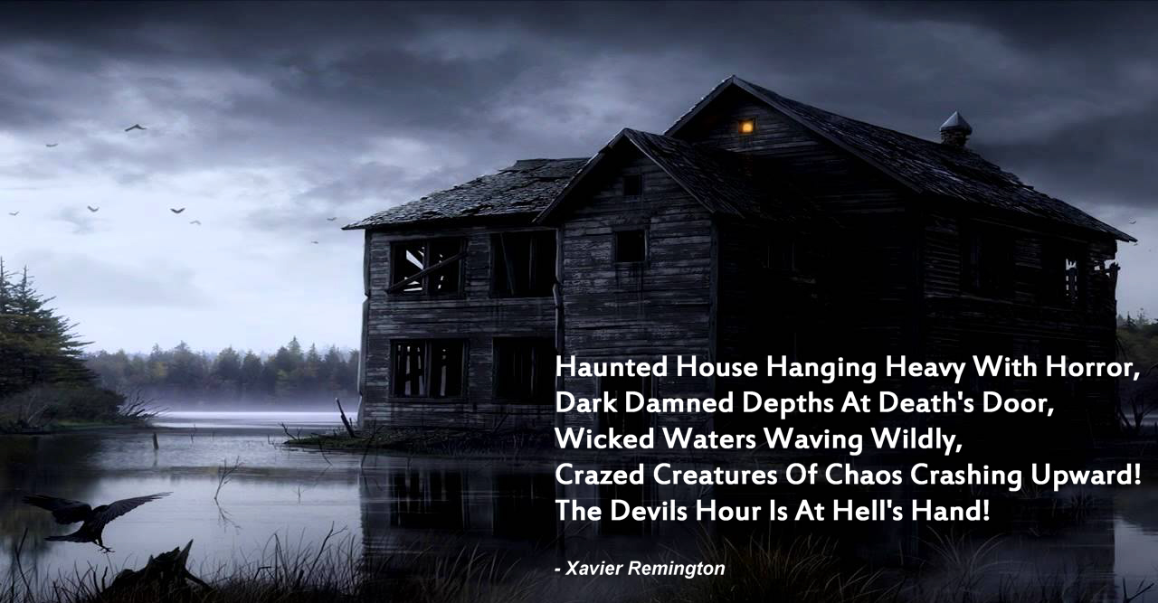The Devils Hour Haunted House Poem Mystic Halloween Blog