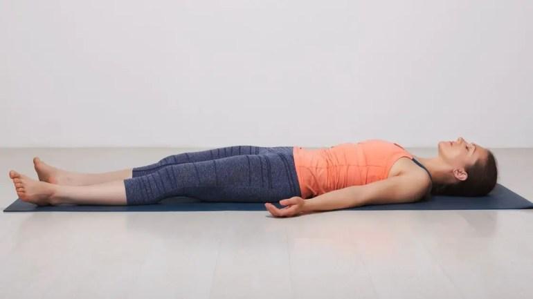 Shavasana Images/Yoga for Beginners in Hindi