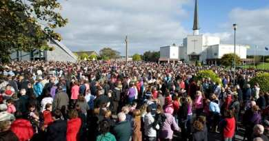 """Incredible Story – 14 Year Old Boy Says the Virgin will appear – Watch crowds flock to Knock Shrine as 'image of Virgin Mary' appears in clouds """"Our lady appeared in knock today . Astonishing Never get over what i  have seen. Please watch."""""""