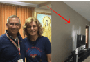 Praying Rosary Medjugorje Pilgrim is Witness to Mysterious Image in His Living Room.. Is it Our Lady, The Holy Family or Angels?