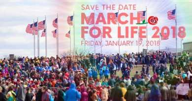 "Today, January 19, 2O18 Hundreds of thousands of pro-lifers converge in DC  to ""March for Life""…""Love Saves Lives""   Trump to speak live to crowd  D.C."