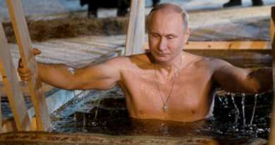 "Putin Braves Icy Water for Traditional Epiphany Dip…Bares ""Miracle Cross"" He Now Never Takes Off"