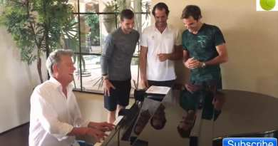 Mystic Post Unknown Fact .. We Love Tennis!.. Great Video Roger Federer and Friends Sing Fun Song. Djokovic With the Surprise
