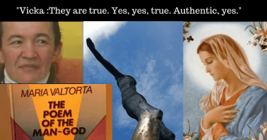 "Medjugorje Message to Mirjana.. Virgin Mary: ""I was the Chalice of the God- Man""  …Vicka on Maria Valtorta's Book ""Poem of the God-Man"": ""They are true. Yes, yes, true. Authentic, yes."""