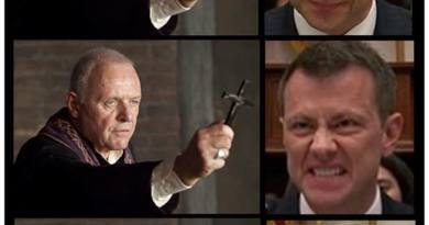 Peter Strzok creepy faces – Not the FBI's Finest Day