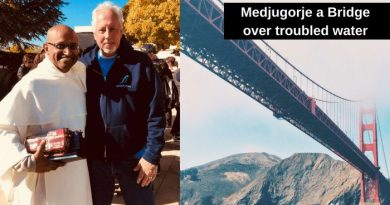 "Signs from Medjugorje:  Priests, Our Bridge over troubled waters…..""I'm sorry I cannot share what is supposed to happen in the future, but our priests are the bridge and without priests there is no triumph of Our Lady's Heart"""