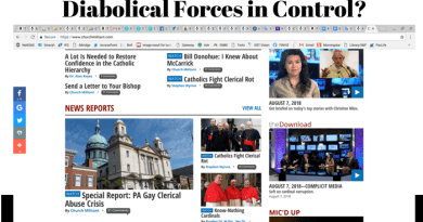 Diabolic Forces in Control?… As USA Catholic Media Rages and Obsesses about Sex, They Ignore Historic Vatican Moves at Apparition Site.