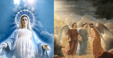 "Medjugorje. The visionary Marija: ""Our Lady often comes with many Angels, small and large. When Our Lady is sad the Angels are sad."""