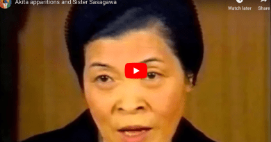"""Powerful Video full of Miracles – Our Lady of Akita: Sr. Sasagawa sees """"Angels worshipping the Holy Eucharist""""…Angel Mysteriously Teaches Visionary the Fatima Prayer to be recited after each decade during the Rosary"""