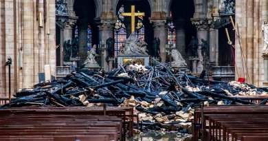 Video: Inside Notre Dame Cathedral after the fire  Upclose view of Jesus's Crown of Thorns
