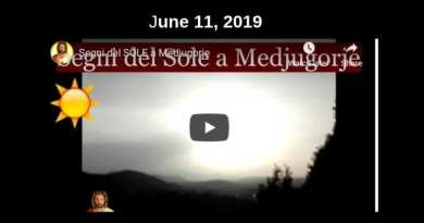 "Medjugorje ""Sun Bomb"" occurs at 1 minute 58 seconds … ""The sun swirled on itself, then grew larger and returned to its normal size, turned and assumed the form of the host. """