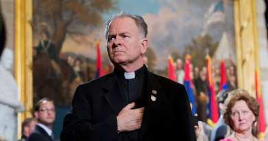 "Priest Exorcises Congress, Casts out evil spirits of darkness…""Things have gotten so bad in Congress that a priest prayed to 'cast out all spirits of darkness' on the House floor."""