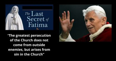 "The third secret of Fatima: ""A persecution will come from ""inside the Church."" Pope Benedict XVI Warns…"