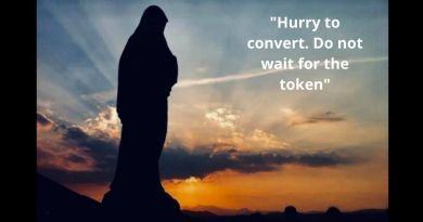 "Mary's Daily Pearl October 1, 2020 ""Medjugorje. Mary's call: ""Hurry to convert. Do not wait for the token…Don't wait for the Sign to appear """