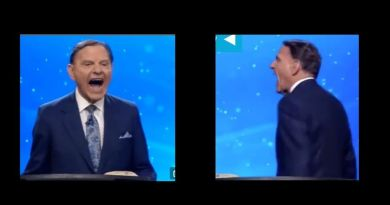 Strange and Bizarre: Televangelist Ken Copeland  fake laughs for 40 seconds after media declares Biden.