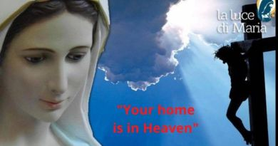 "November 10, 2020 Mary's Pearl from Medjugorje: ""Your home is in Heaven"" …When Our Lady spoke to us about eternal life. ""Only in prayer will you be close to me and my Son and you will see how short this life is."""