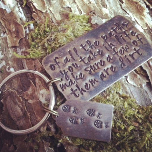 Muir Quote Outdoor Key Chain for Him