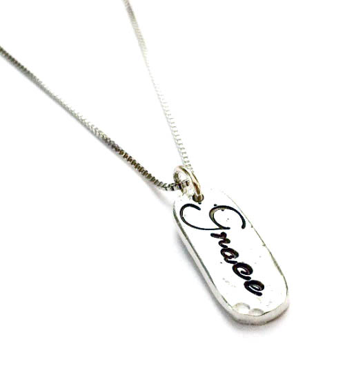 Pewter Grace Christian Necklace by Mystic Soul
