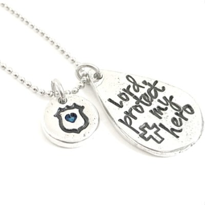Pewter Police Wife Hero Necklace