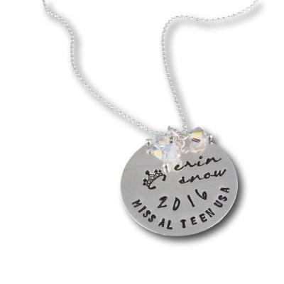 Sterling Silver Personalized Pageant Necklace