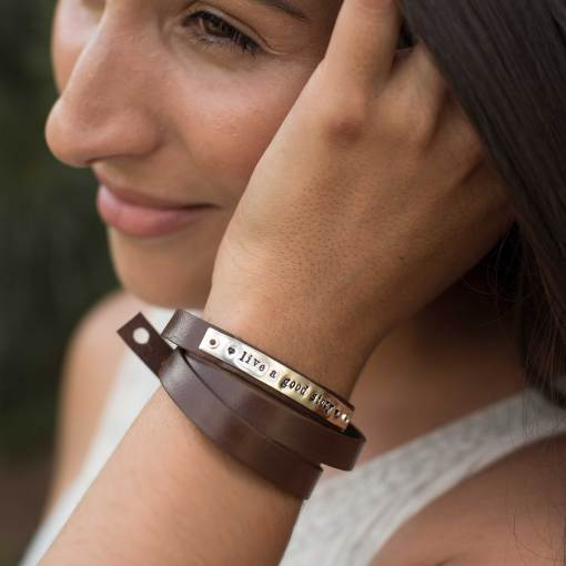 What does it mean to Live a Good Story To be Kind Charitable Take care of yourself Your daily reminder on our Boho Wrap Bracelet for Women.