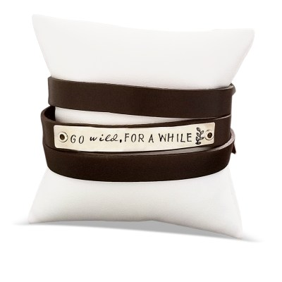 Go Wild for a While Leather Wrap Bracelet