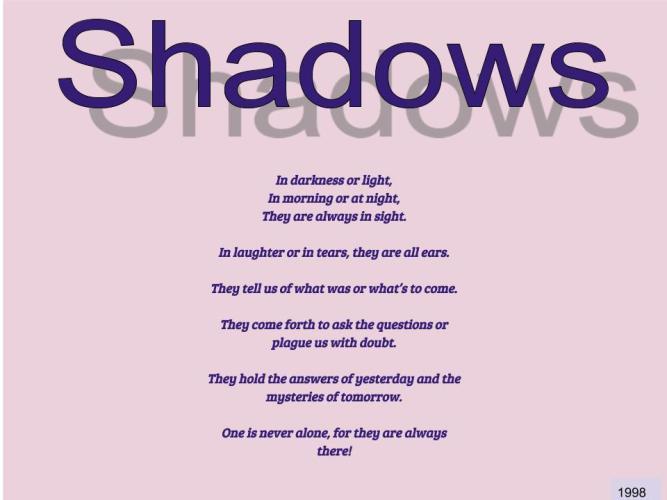 Dreams Shadows !