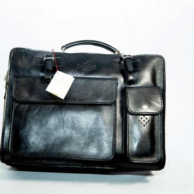 Lagerhof Double Front Pocket Briefcase Bag