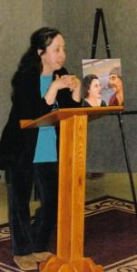 Aya Katz gave a presentation about her novel