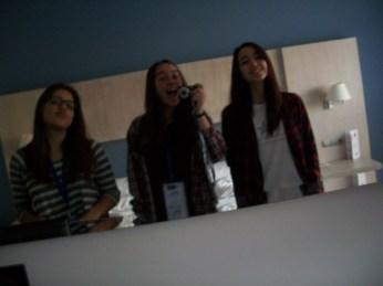 Raquel, yo y Ana